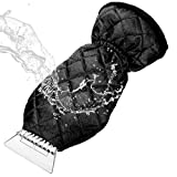 MATCC Eiskratzer Mit Handschuh Auto Eiskratzerhandschuh Innen Velours Gefüttert Nie Eingefrorene Winter Kratzer Eiskratzer Handschuh Für Auto Windschutzscheibe Schneeschaufel Eisschaber (38 * 19cm)