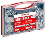 fischer 040991 Sortimentsbox RED-Box mit Universaldübel UX und Spreizdübel SX-Für zahlreiche Baustoffe und vielfältige Anwendungen-290 Teile-Art-Nr. 40991