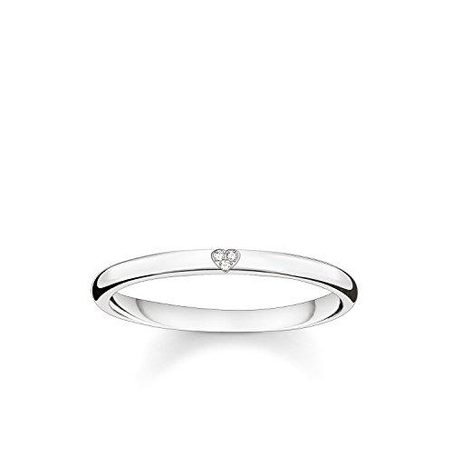 THOMAS SABO Damen Ring Herz 925er Sterlingsilber D_TR0016-725-14