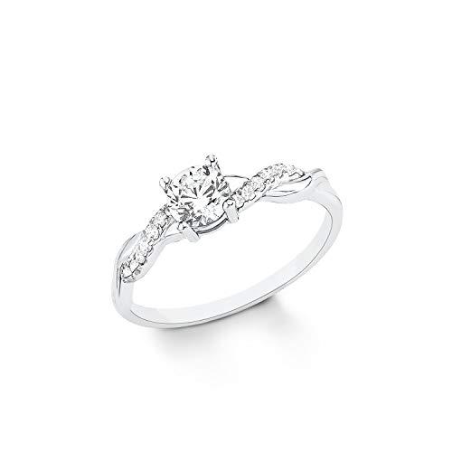 s.Oliver Ring für Damen 925er Sterling Silber rhodiniert Weiß