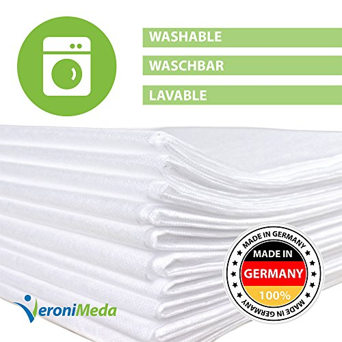 VERONIMEDA Massageliege Bezug (10 Stk) / Waschfaserlaken für Massage 4 JAHRE LEBENSDAUER/Massageliege Auflage (200 x 80cm) / Massagetisch Bezug (50g/m² Vlieslaken) Laken für Behandlungsliege