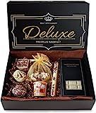 BRUBAKER 8-teiliges Bio Badepralinen Geschenkset'Deluxe Schokolade Karamell' - Vegan - Natürliche Inhaltsstoffe - Olivenöl, Shea Butter, Kokosöl, Kakaobutter - Handgemacht - inkl. Geschenkbox