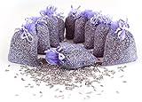 Quertee 5 x Lavendelsäckchen mit echtem französischen Lavendel - Insgesamt 50 g Lavendelblüten