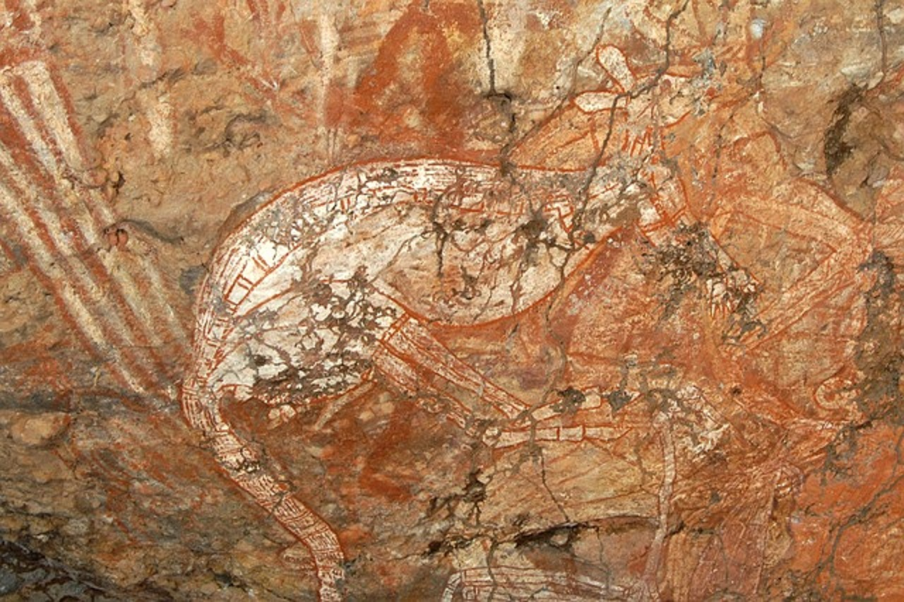 Felsmalerei im Kakadu Nationalpark Australien © H. Bieser / pixabay.com