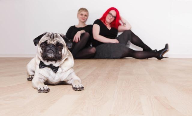 Die Print- und Produktdesignerinnen Sandra Hein und Sarah Finke © Kreativbunker