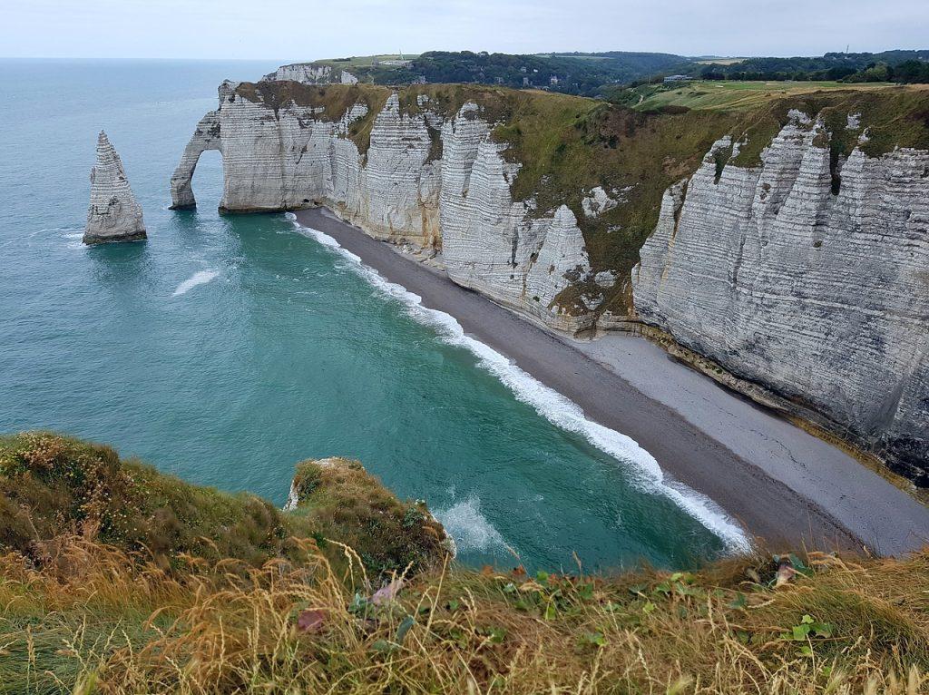 Normandie, französische Nordseeküste, Urlaub, Reise, Steilküste