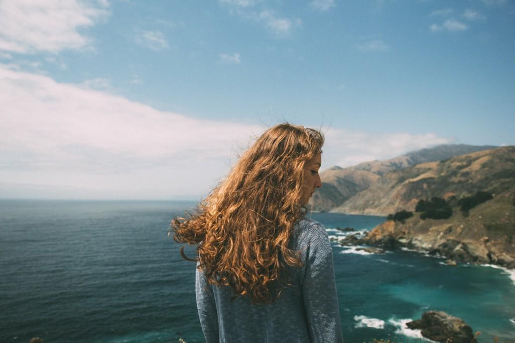 Strand, Küste, Urlaub, Mädchen