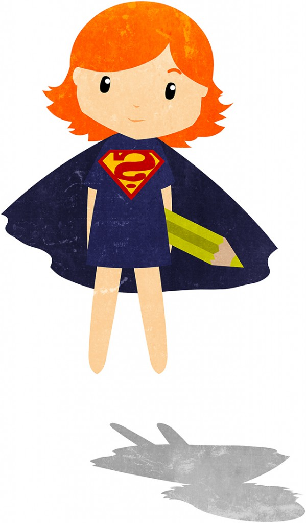 """Illustration """"Welche Superpower hast du"""" für einen Bloggerworkshop"""