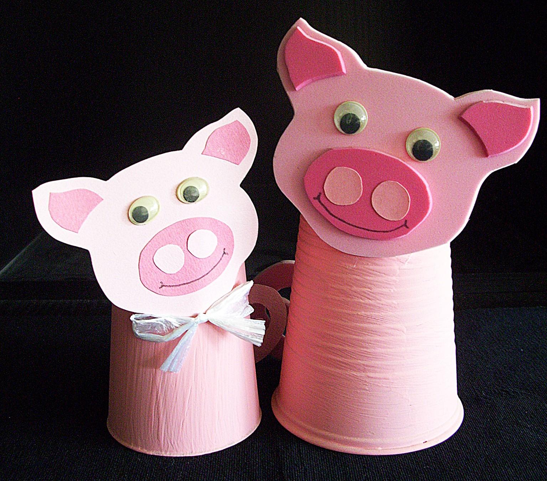 Basteln, Kinderwerkstatt, Schweinchen