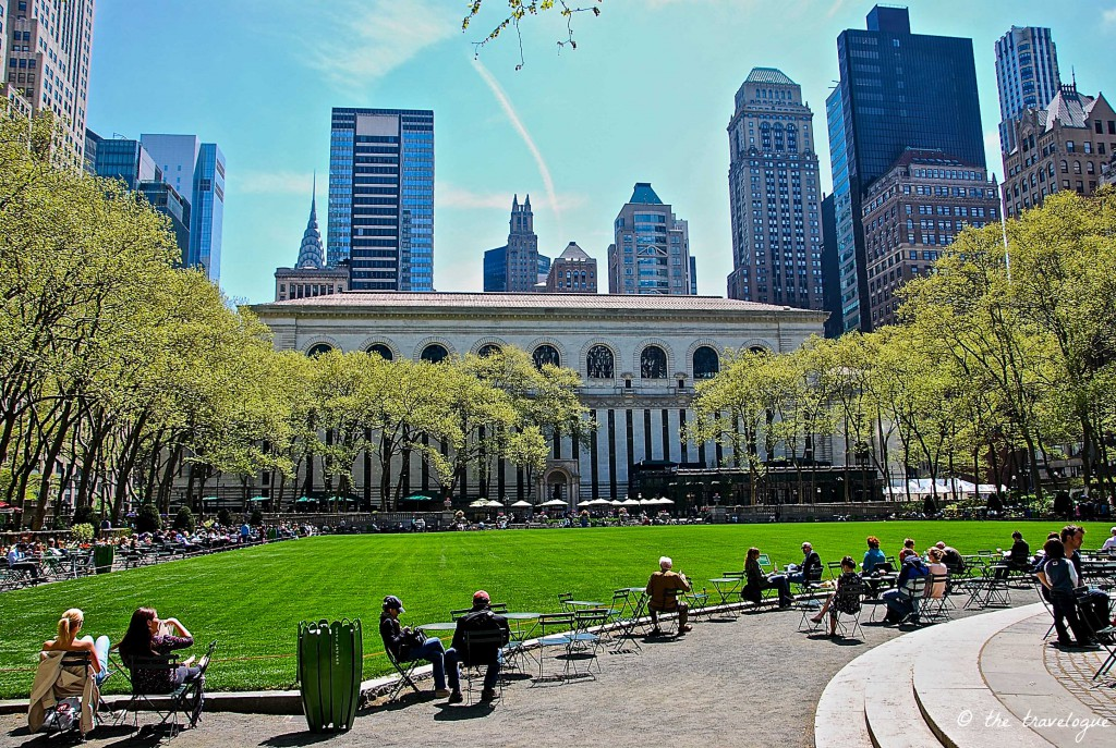 Bryant Park in New York © the travelogue