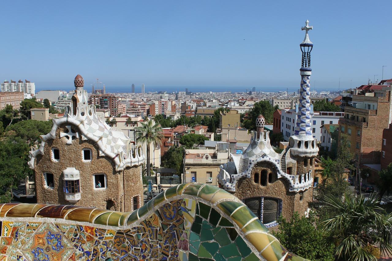 parc Güell, Antoni Gaudi, Katalonien, Barcelona, Architektur