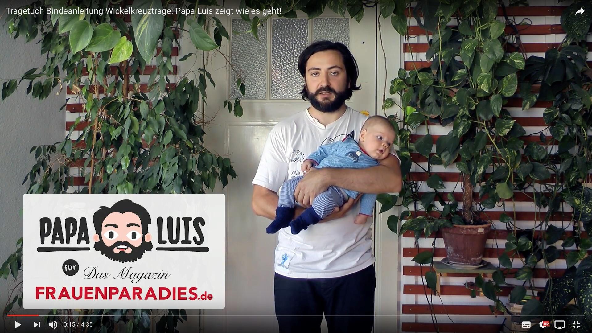 Videoblog: Papa Luis erklärt das Tragetuch