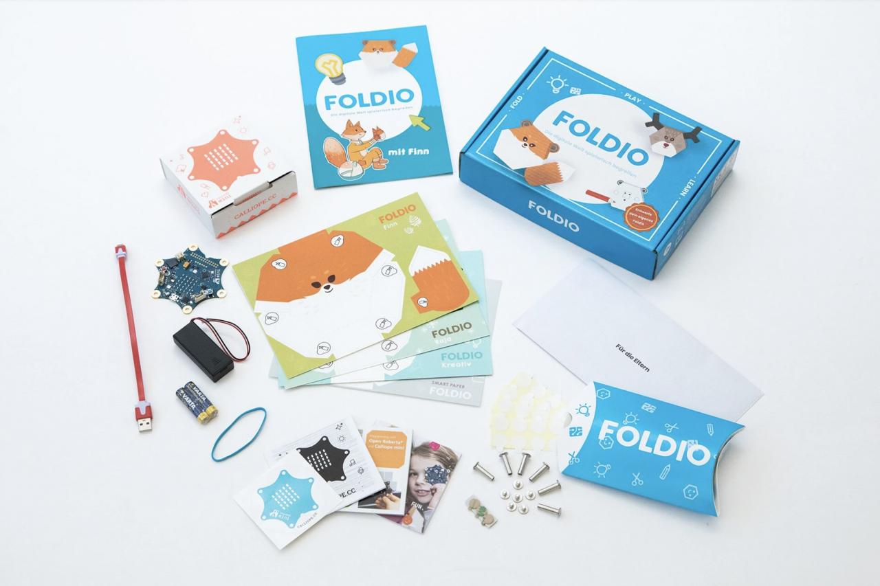Foldio Starterset mit Calliope Mini @ Foldio