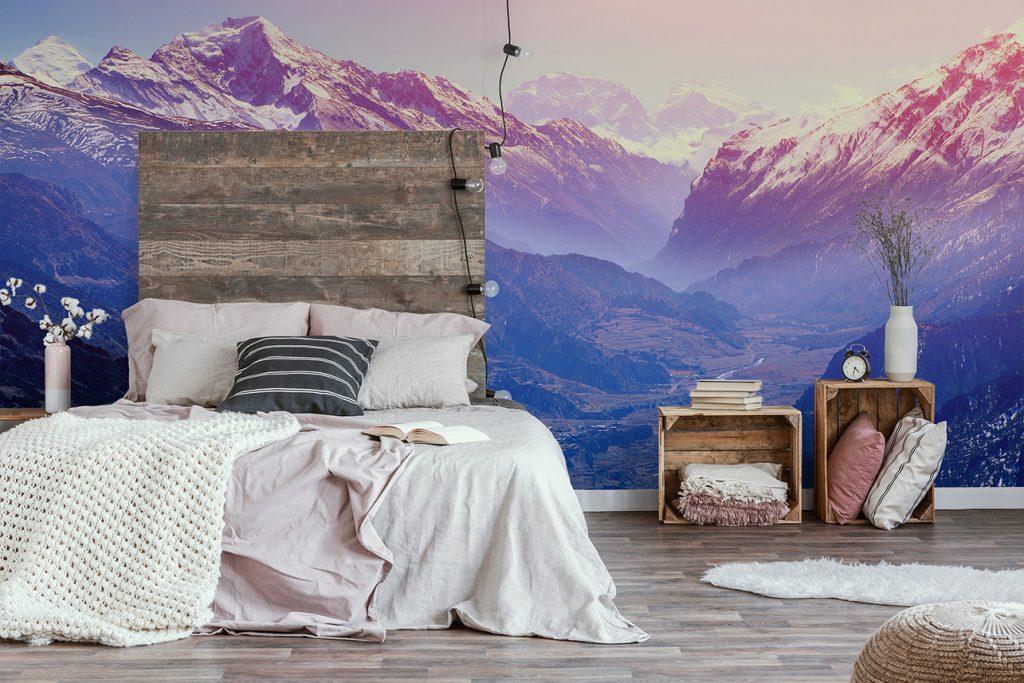 DIY rustikal, rustikales Schlafzimmer, rustikales Bett