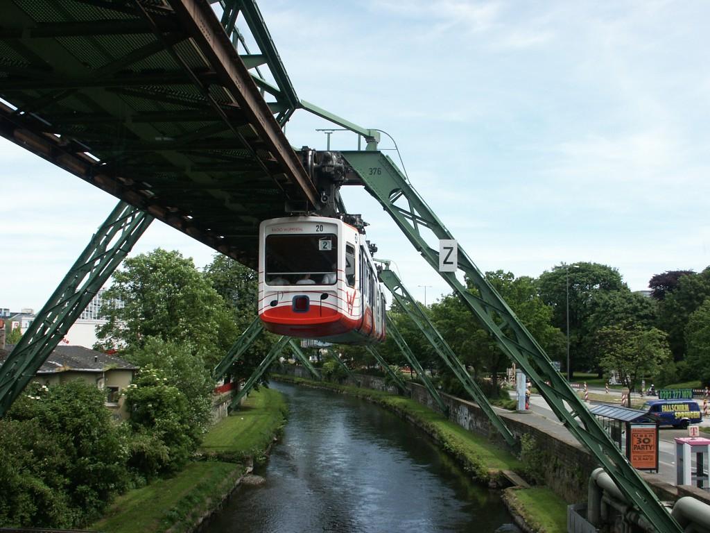 Die Schwebebahn in Wuppertal