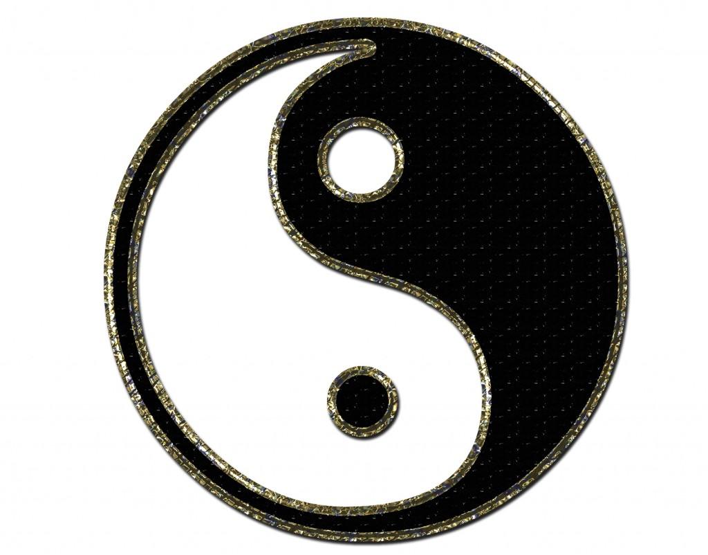 Die Symbole Yin und Yang